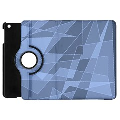Lines Shapes Pattern Web Creative Apple Ipad Mini Flip 360 Case