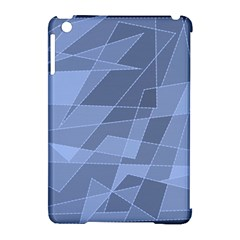 Lines Shapes Pattern Web Creative Apple Ipad Mini Hardshell Case (compatible With Smart Cover)