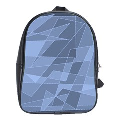 Lines Shapes Pattern Web Creative School Bags (XL)