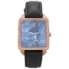Lines Shapes Pattern Web Creative Rose Gold Leather Watch