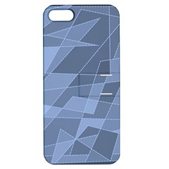 Lines Shapes Pattern Web Creative Apple Iphone 5 Hardshell Case With Stand