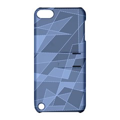 Lines Shapes Pattern Web Creative Apple Ipod Touch 5 Hardshell Case With Stand
