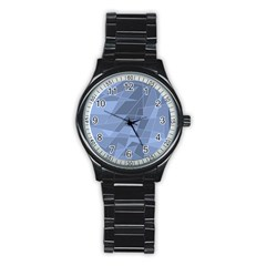 Lines Shapes Pattern Web Creative Stainless Steel Round Watch