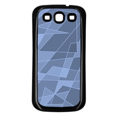 Lines Shapes Pattern Web Creative Samsung Galaxy S3 Back Case (black)
