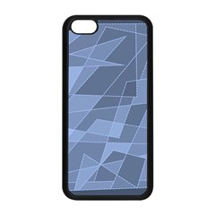 Lines Shapes Pattern Web Creative Apple iPhone 5C Seamless Case (Black)