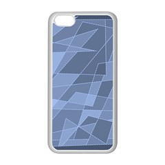 Lines Shapes Pattern Web Creative Apple Iphone 5c Seamless Case (white)