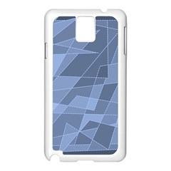 Lines Shapes Pattern Web Creative Samsung Galaxy Note 3 N9005 Case (white)