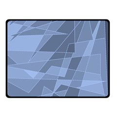 Lines Shapes Pattern Web Creative Double Sided Fleece Blanket (small)