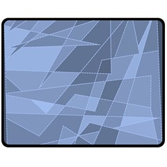 Lines Shapes Pattern Web Creative Double Sided Fleece Blanket (medium)