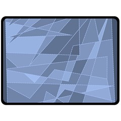 Lines Shapes Pattern Web Creative Double Sided Fleece Blanket (large)