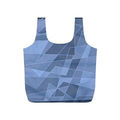Lines Shapes Pattern Web Creative Full Print Recycle Bags (s)