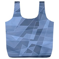 Lines Shapes Pattern Web Creative Full Print Recycle Bags (l)