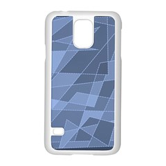 Lines Shapes Pattern Web Creative Samsung Galaxy S5 Case (White)