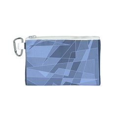 Lines Shapes Pattern Web Creative Canvas Cosmetic Bag (S)