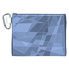 Lines Shapes Pattern Web Creative Canvas Cosmetic Bag (xxl)