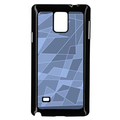 Lines Shapes Pattern Web Creative Samsung Galaxy Note 4 Case (Black)
