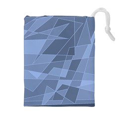 Lines Shapes Pattern Web Creative Drawstring Pouches (extra Large)