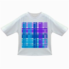 Gingham Pattern Blue Purple Shades Infant/toddler T Shirts