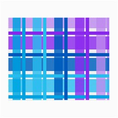Gingham Pattern Blue Purple Shades Small Glasses Cloth