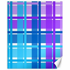 Gingham Pattern Blue Purple Shades Canvas 16  X 20