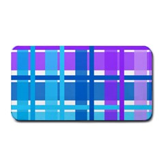 Gingham Pattern Blue Purple Shades Medium Bar Mats