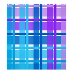Gingham Pattern Blue Purple Shades Shower Curtain 66  x 72  (Large)