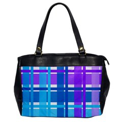 Gingham Pattern Blue Purple Shades Office Handbags