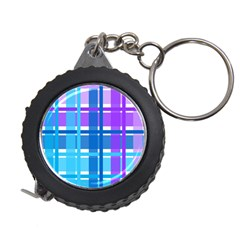 Gingham Pattern Blue Purple Shades Measuring Tapes
