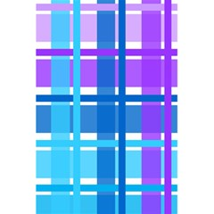 Gingham Pattern Blue Purple Shades 5 5  X 8 5  Notebooks