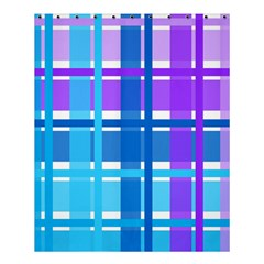 Gingham Pattern Blue Purple Shades Shower Curtain 60  X 72  (medium)