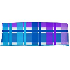 Gingham Pattern Blue Purple Shades Body Pillow Case Dakimakura (two Sides)
