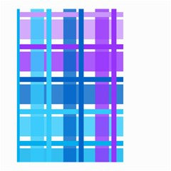 Gingham Pattern Blue Purple Shades Small Garden Flag (Two Sides)