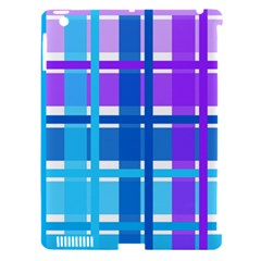 Gingham Pattern Blue Purple Shades Apple Ipad 3/4 Hardshell Case (compatible With Smart Cover)