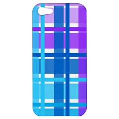 Gingham Pattern Blue Purple Shades Apple Iphone 5 Hardshell Case