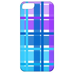 Gingham Pattern Blue Purple Shades Apple Iphone 5 Classic Hardshell Case