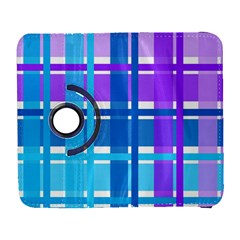 Gingham Pattern Blue Purple Shades Galaxy S3 (Flip/Folio)