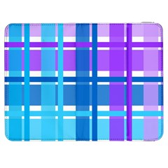 Gingham Pattern Blue Purple Shades Samsung Galaxy Tab 7  P1000 Flip Case