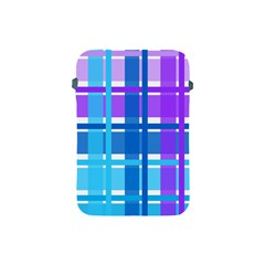 Gingham Pattern Blue Purple Shades Apple iPad Mini Protective Soft Cases