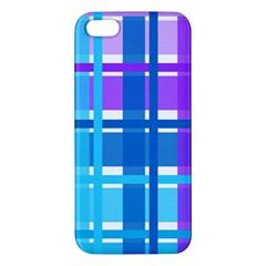 Gingham Pattern Blue Purple Shades Iphone 5s/ Se Premium Hardshell Case