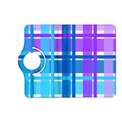 Gingham Pattern Blue Purple Shades Kindle Fire Hd (2013) Flip 360 Case
