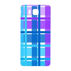 Gingham Pattern Blue Purple Shades Samsung Galaxy Alpha Hardshell Back Case
