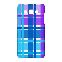 Gingham Pattern Blue Purple Shades Samsung Galaxy A5 Hardshell Case