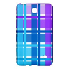 Gingham Pattern Blue Purple Shades Samsung Galaxy Tab 4 (7 ) Hardshell Case