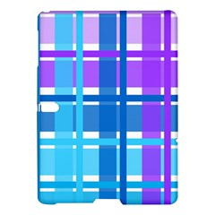 Gingham Pattern Blue Purple Shades Samsung Galaxy Tab S (10 5 ) Hardshell Case