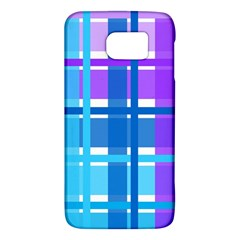 Gingham Pattern Blue Purple Shades Galaxy S6