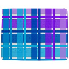 Gingham Pattern Blue Purple Shades Jigsaw Puzzle Photo Stand (rectangular)