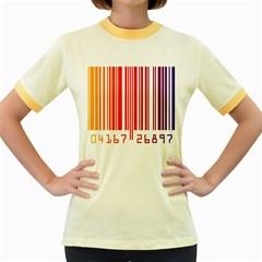 Code Data Digital Register Women s Fitted Ringer T-Shirts