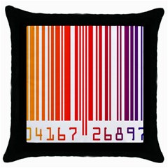 Code Data Digital Register Throw Pillow Case (black)