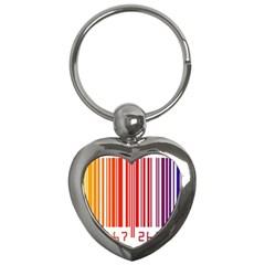 Code Data Digital Register Key Chains (Heart)