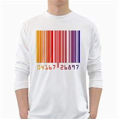 Code Data Digital Register White Long Sleeve T Shirts